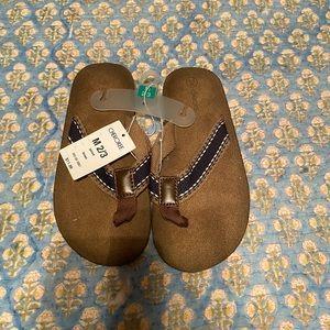 NWT Boys Cherokee Flip Flops, Size 2/3 (Medium)